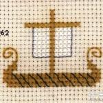 阿拉伯风情的小帆帆船十字绣绣法