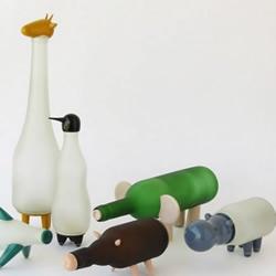 玻璃瓶变废为宝 手工DIY奇趣动物台灯