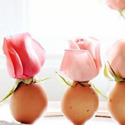 鸡蛋壳变废为宝 手工制作简约唯美的花瓶图片