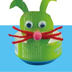易拉罐变废为宝DIY兔子不倒翁的做法