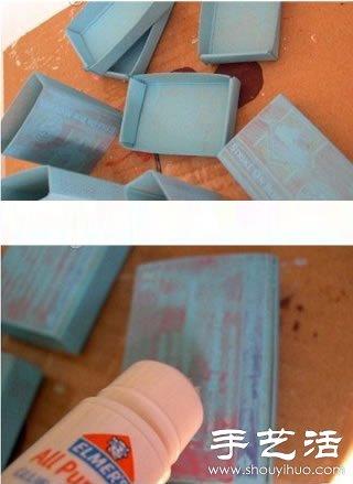 火柴盒废物利用手工制作首饰盒 -  www.shouyihuo.com