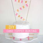 生日蛋糕装饰彩旗的DIY方法