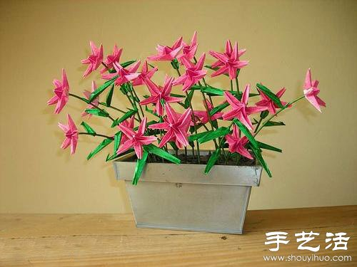 手工制作的漂亮纸花盆栽(3)