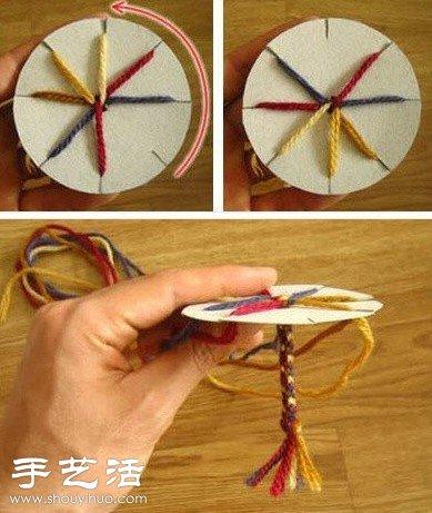 用纸板编织手链的方法