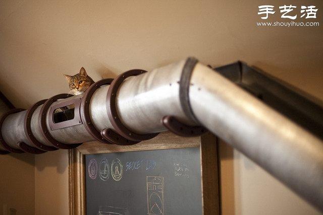 金属管diy猫爬架 实在太贴心啦! 手艺活网