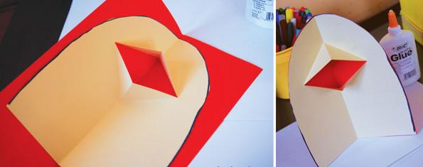 不如将剪纸与手绘结合,diy怪诞动物造型的立体贺卡吧… 彩色