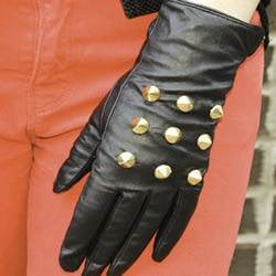 旧物改造DIY铆钉皮手套教程