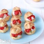 小清新草莓鲜奶泡芙的做法