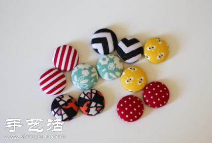 女人手工 饰品制作 首饰制作  小清新耳钉diy手工制作方法,准备好纽扣