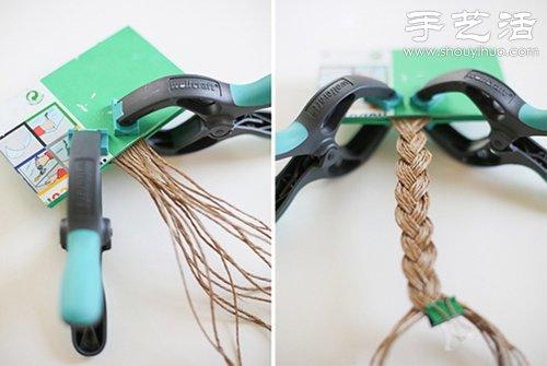 森系风格麻绳腰带手工制作教程
