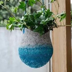羊毛毡DIY制作创意花盆
