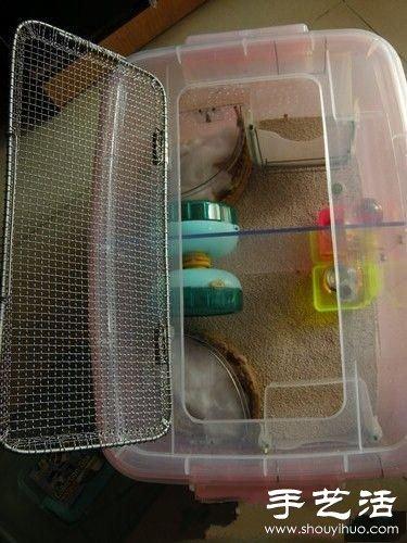 超大仓鼠笼制作方法 整理箱diy仓鼠笼子(2)