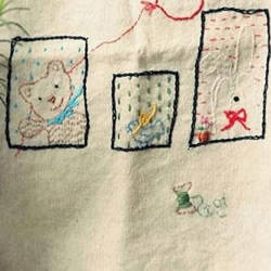 棉麻布刺绣DIY清新居家小物件