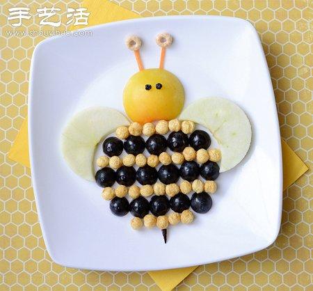 有爱的营养早餐摆盘和水果拼盘DIY