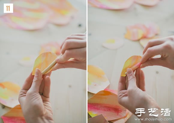 超大纸花的做法 自制纸花步骤教程 - www.shouyihuo.com