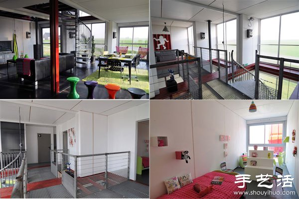 集装箱改造DIY时尚现代别墅 -  www.shouyihuo.com