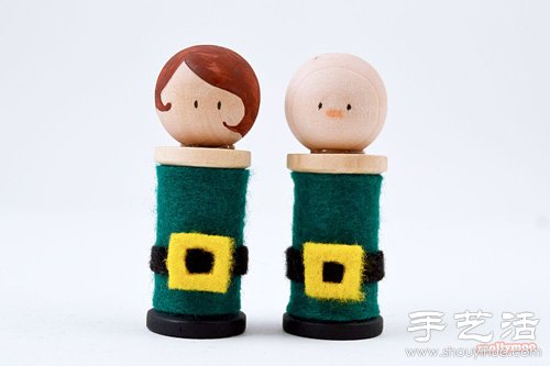 可爱毛毡布娃娃手工制作教程