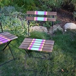 旧椅子改造 DIY时尚绚丽多彩靠椅