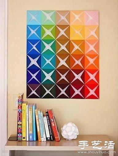 漂亮的手工墙饰折纸制作
