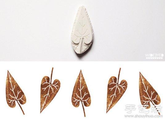清新淡雅的手工橡皮章作品