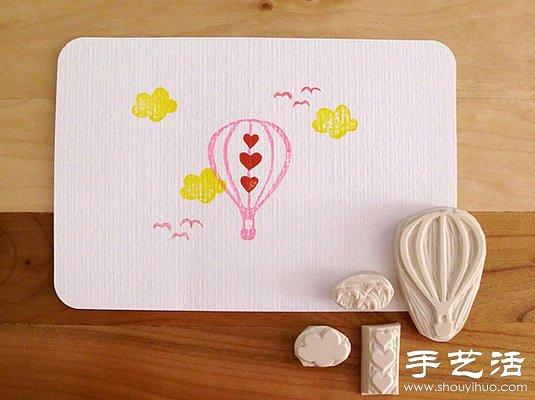 清新淡雅的手工橡皮章作品 -  www.shouyihuo.com