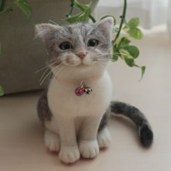 超萌的手工制作羊毛毡猫咪玩偶