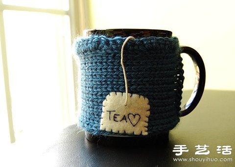 毛线编织的超萌杯套