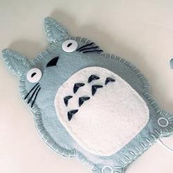 可爱布艺龙猫手机套