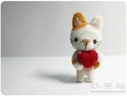 非常萌的猫咪主题羊毛毡龙都娱乐品 -  www.shouyihuo.com