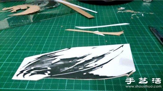 《激战2》主题木片贴画手工制作教程 - www.shouyihuo.com