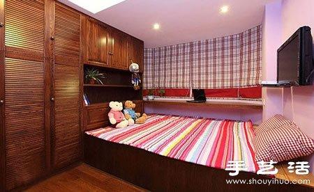 55平米暖色系温馨小户型家居装修设计