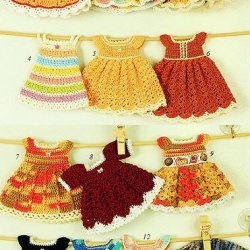 针织超可爱迷你裙子手工艺品