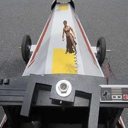 纸箱变废为宝DIY星球大战X-wing样式小车