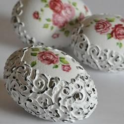 带镂空精美蛋雕手工艺品制作方法教程