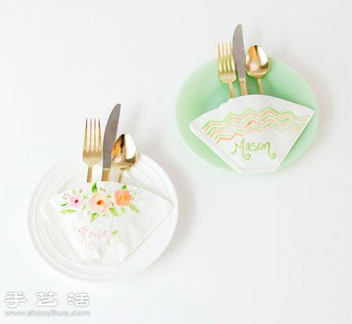 手绘教程 正文  贴心餐桌卡片手工制作教程