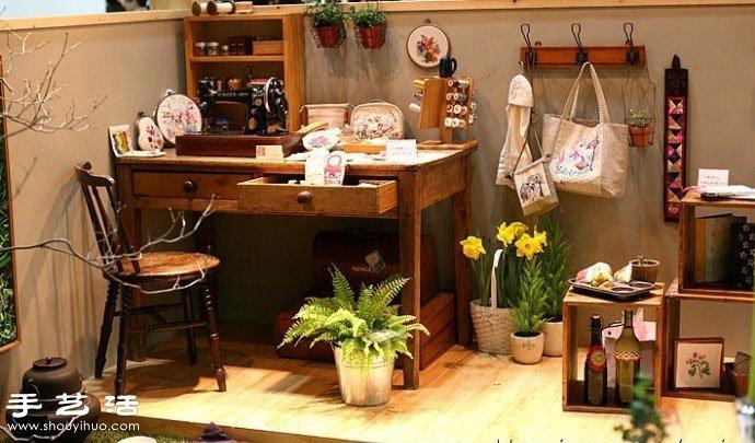 韩国风甜美手工布艺包包刺绣作品图片