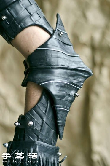 自行車內胎DIY製作的堅固柔韌橡膠鎧甲