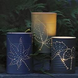 铁皮罐/铁罐废物利用DIY浪漫蜡烛灯台