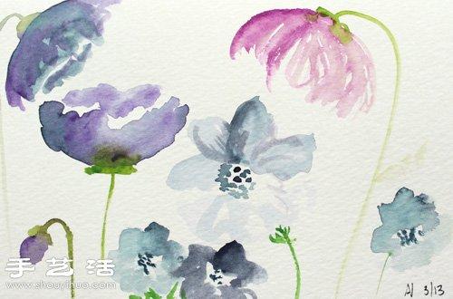 简单唯美的水彩画-水彩画教程 教你各种漂亮花卉的水彩画法