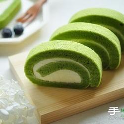 绿意盎然的抹茶天使奶酪蛋糕卷的做法