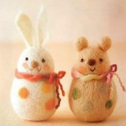 超萌手工羊毛毡动物小玩偶