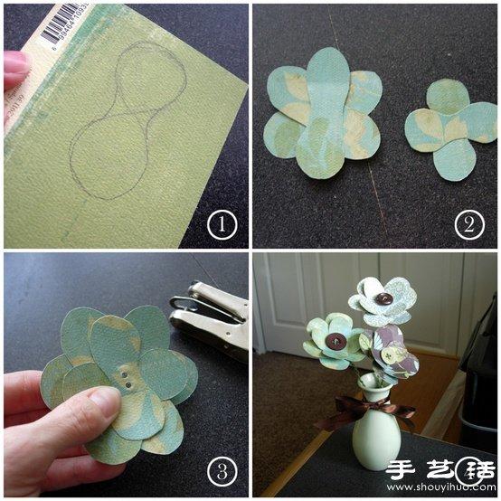 超简单的手工纸花制作教程图片