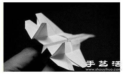 折纸飞机 正文  超逼真的隐形战机折纸手工制作