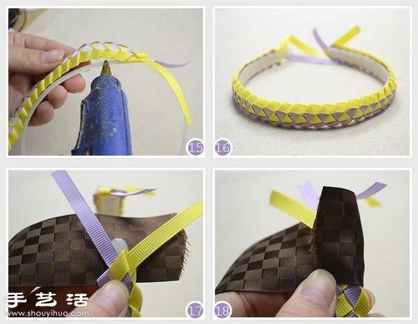 编织带diy手工制作小清新发箍的方法