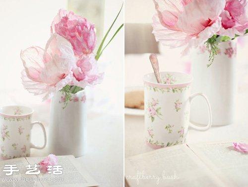 皺紋紙/宣紙DIY手工製作美麗逼真紙花