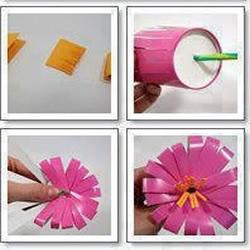 一次性纸杯/塑料杯手工制作漂亮花朵/花