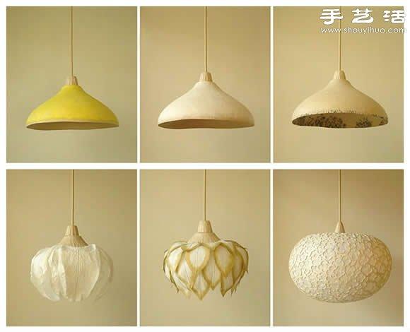 紙張DIY的漂亮易更換吊燈燈罩