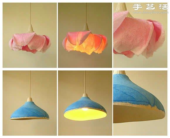 手工艺术家Sachie Muramatsu用纸为素材DIY制作的漂亮吊灯,在纸艺灯罩上勾勒出精美的图案,鲜艳的色彩和优雅的造型为美好居室增添了一份浪漫。由于所有灯罩都是采用纸张制作,所以也不需要清洁,感觉脏了就直接更换。灯罩采用坚固的纸材料(聚酯和纤维素),而灯泡采用发热量非常低的CFL灯泡,避免引起火灾。