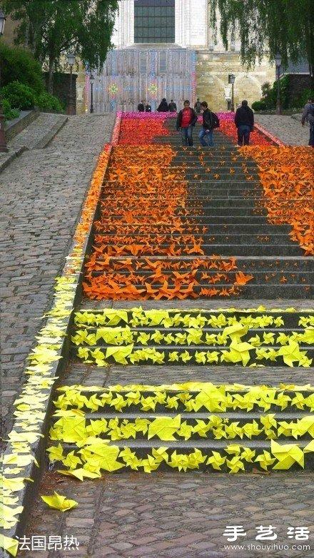 充满创意的街头艺术,在手工艺术家的diy设计下,阶梯也会美的让人心醉.