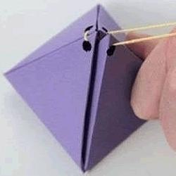 手工金字塔形状糖果包装盒制作图解教程